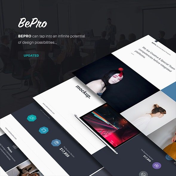 BePro Simple & Business Theme - Business Keynote Templates