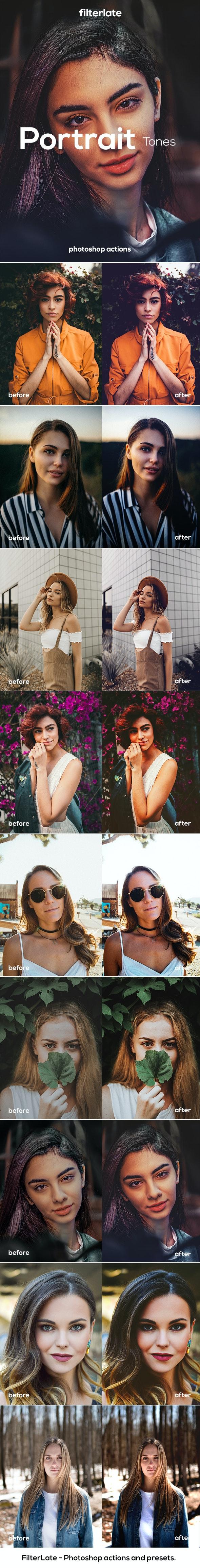 Portrait Tones - Actions Photoshop