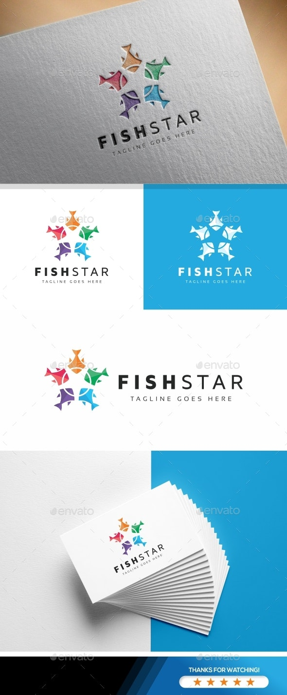 Fish Star Logo - Symbols Logo Templates