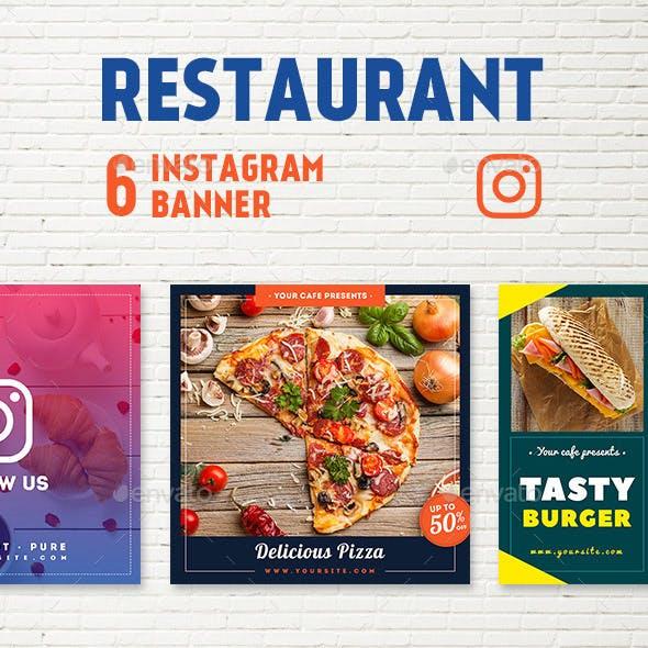 Restaurant Instagram Banners