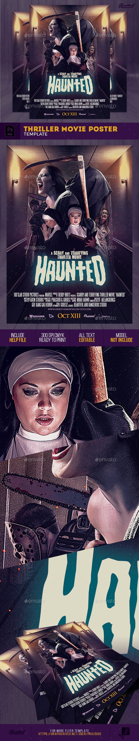 Thriller Movie Poster Template - Events Flyers