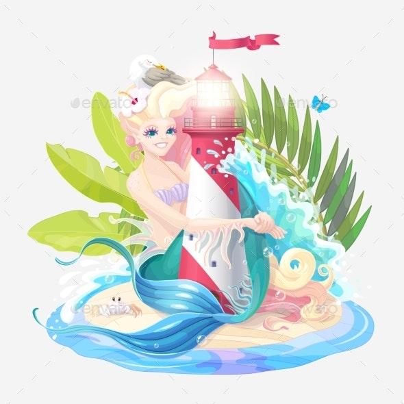 Vector Sea Cartoon Composition - Miscellaneous Vectors
