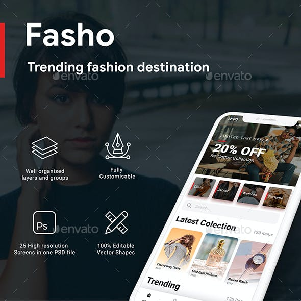 ECommerce Android App Graphics, Designs & Templates