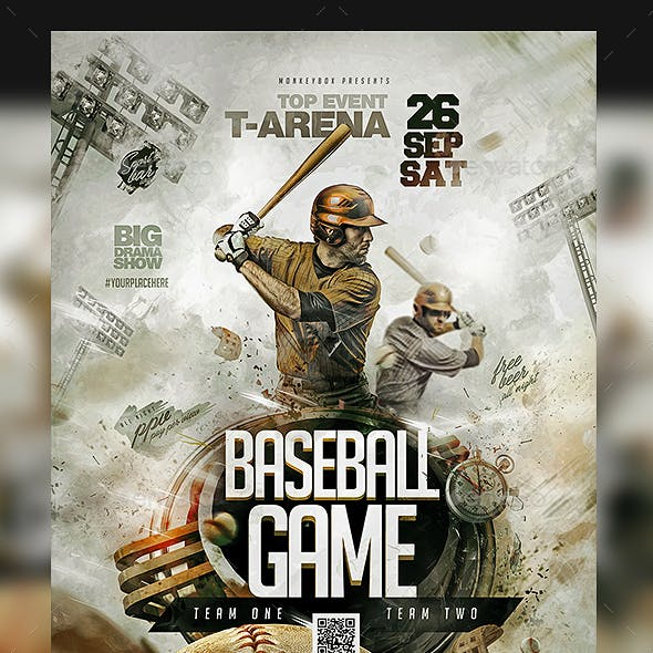 Flyer Baseball Game Template