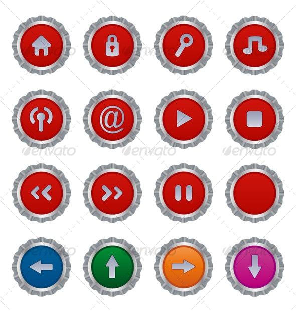 Button plates - Buttons Web Elements