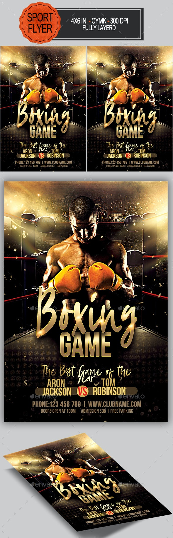 Boxing Game Flyer - Sports Events