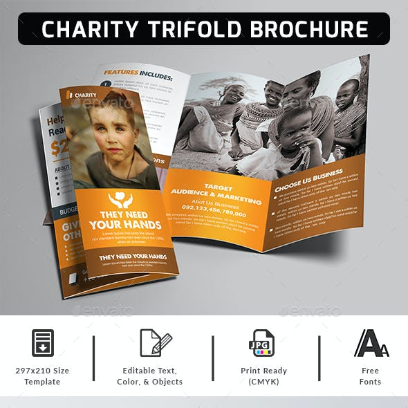 Charity Fundraisers Trifold Brochure