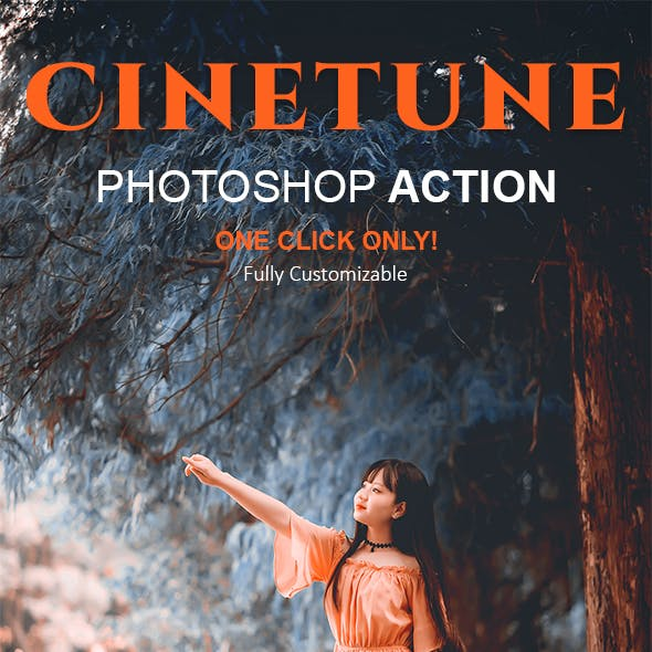 Cinetune | cinematic color grading Effects Photoshop Action