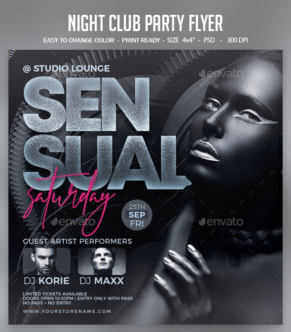 Night Club Party Flyer - Clubs & Parties Events