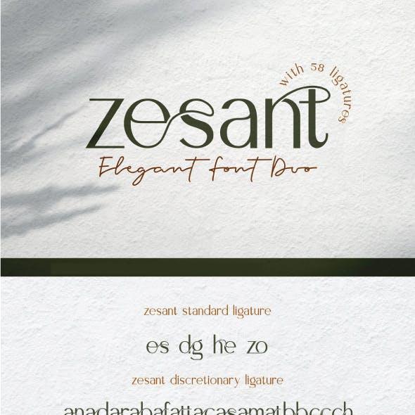 Zesant Elegant Font Duo