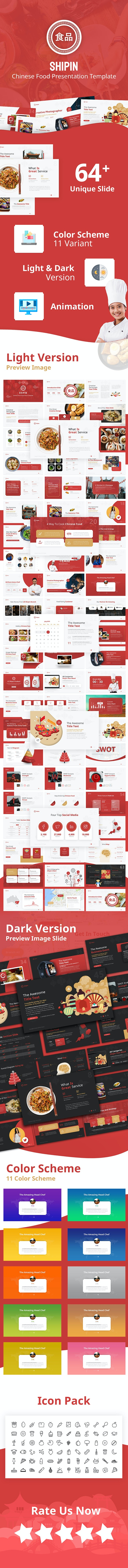 Shipin - Chinese Food Presentation PowerPoint Template - PowerPoint Templates Presentation Templates
