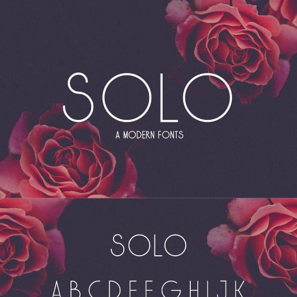 Solo Modern San Serif Font