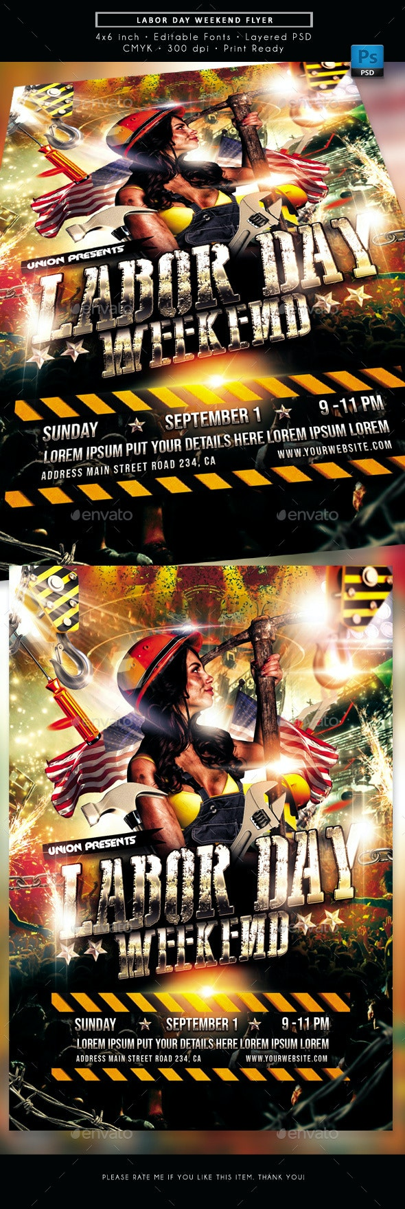 Labor Day Weekend Event Flyer - Events Flyers