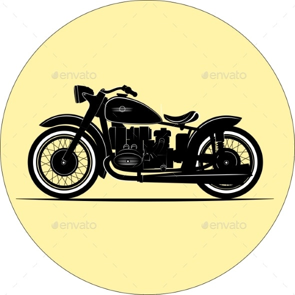 Vintage Motorcycle - Man-made Objects Objects