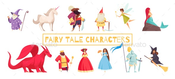 Fairy Tale Characters Set - People Characters