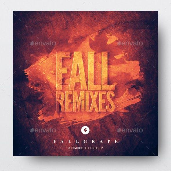 Fall Remixes - Music Album Cover Artwork Template