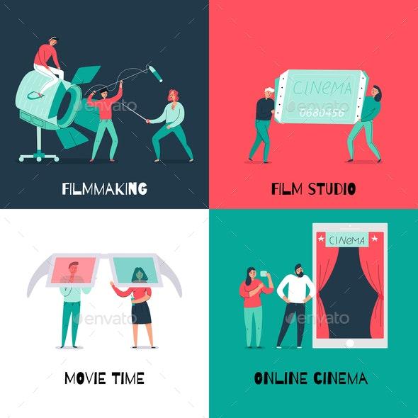 Cinema Flat 2x2 Design Concept - Computers Technology