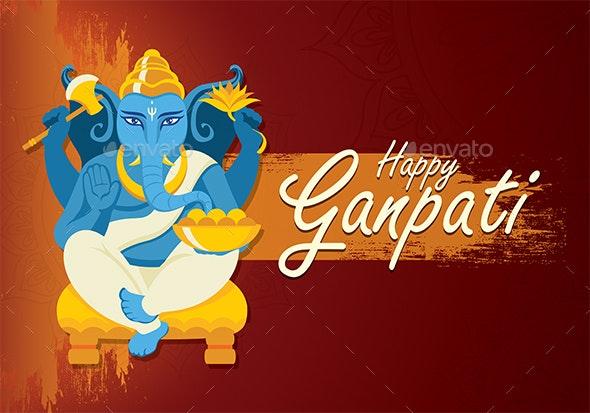 Happy Ganesh Chaturthi Poster By Prnjlsngh Graphicriver