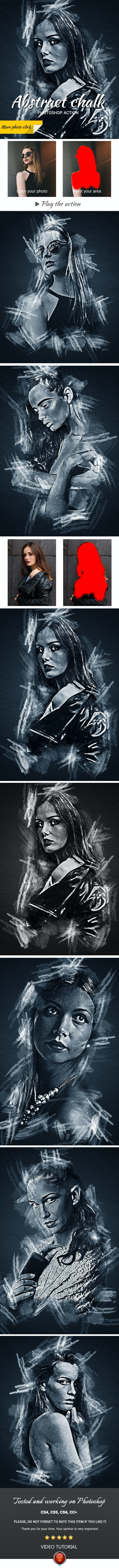 Abstract Chalk Photoshop Action - Photo Effects Actions