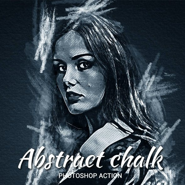 Abstract Chalk Photoshop Action