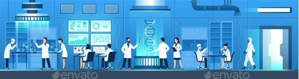 Science Researching Lab Biotechnology Genetic - Miscellaneous Vectors