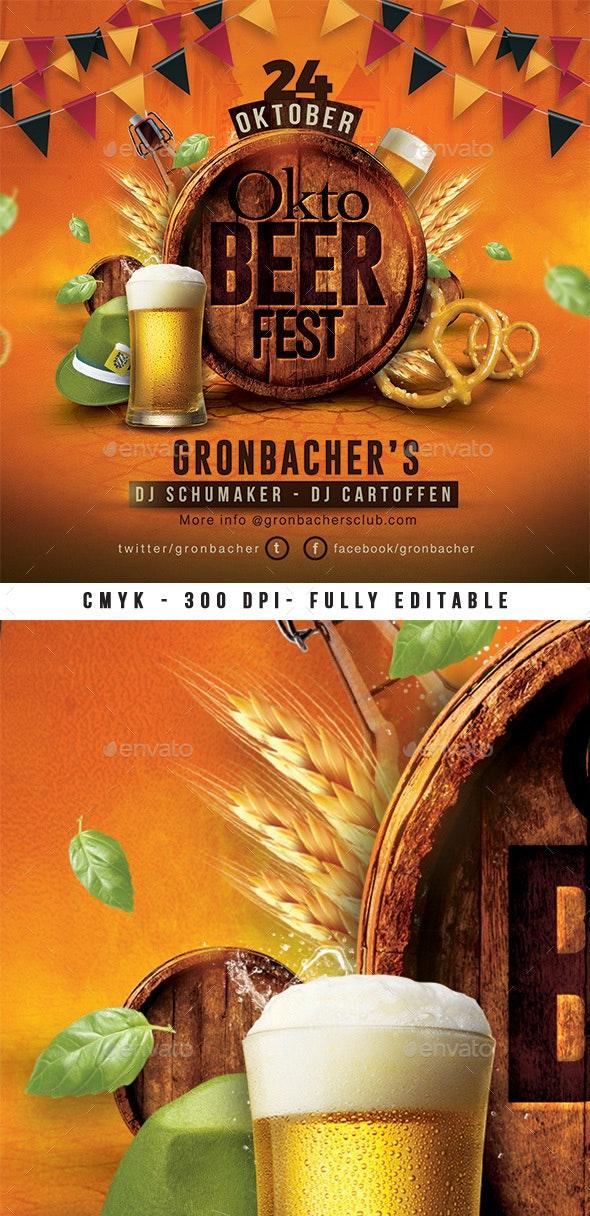 Oktober Beer Fest Flyer - Events Flyers