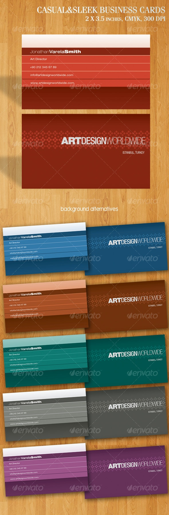 Casual & Sleek Business Cards - Corporate Business Cards