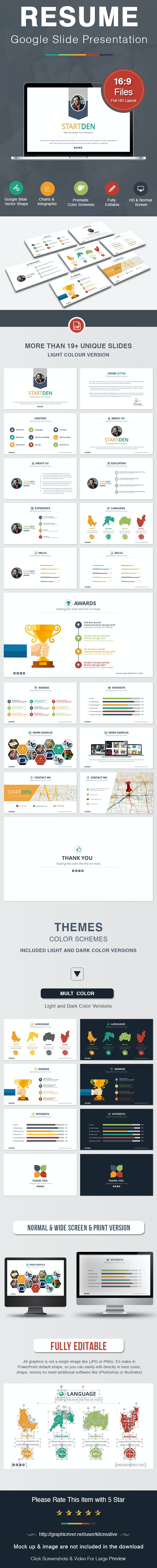 Resume Google Slide by KitCreative | GraphicRiver