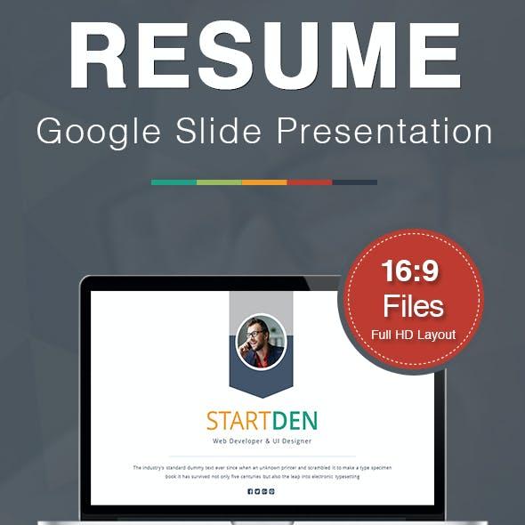 Resume Google Slide