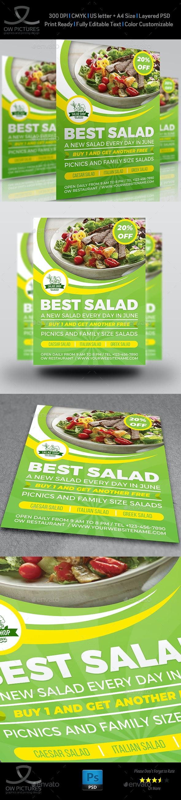 Salad Restaurant Flyer Template Vol.2 - Restaurant Flyers