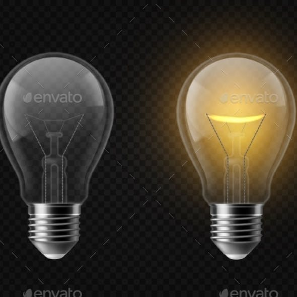 Light Bulb Man-made Object Vectors from GraphicRiver