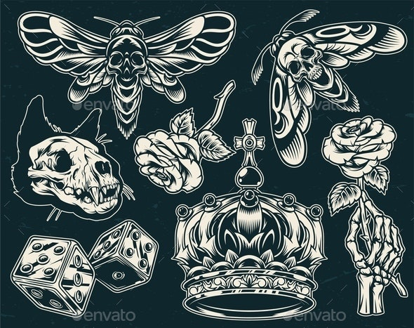 Vintage Tattoos Collection - Miscellaneous Vectors