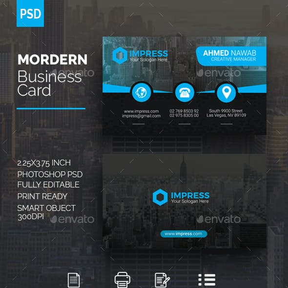 Mordern Business Card