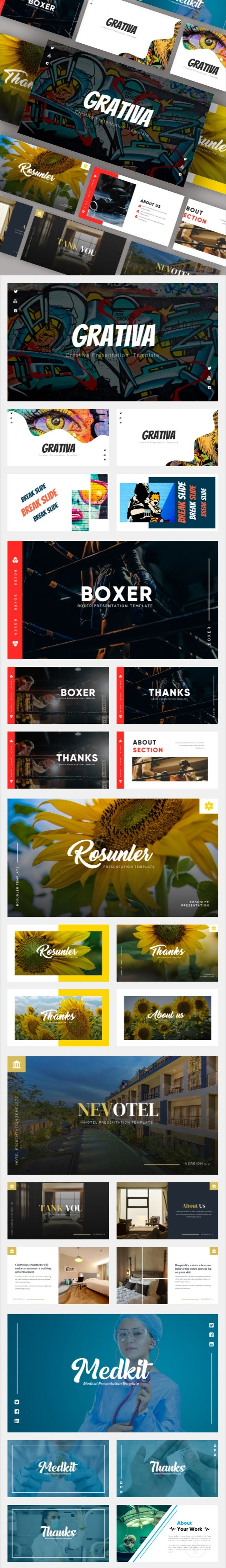 Multipurpose Google Slides BIG Bundle Vol. 3 - Google Slides Presentation Templates