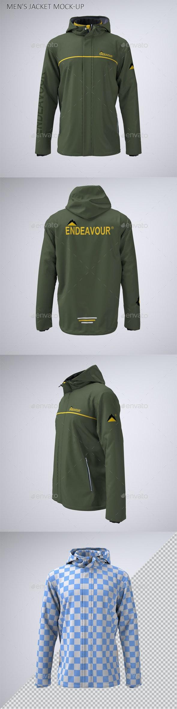 Men's Work Jacket Mock-Up - Apparel Product Mock-Ups