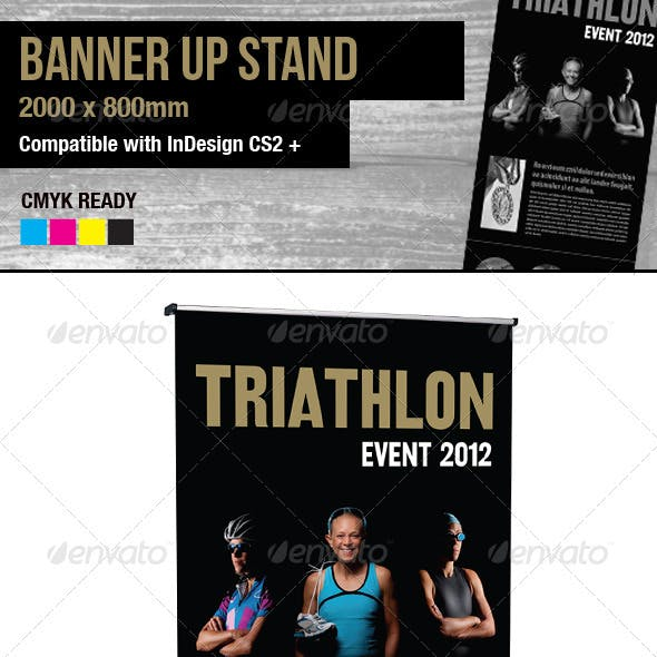 Athletics Themed Banner Stand Pop-up