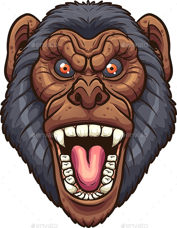 Angry Chimpanzee - Animals Characters