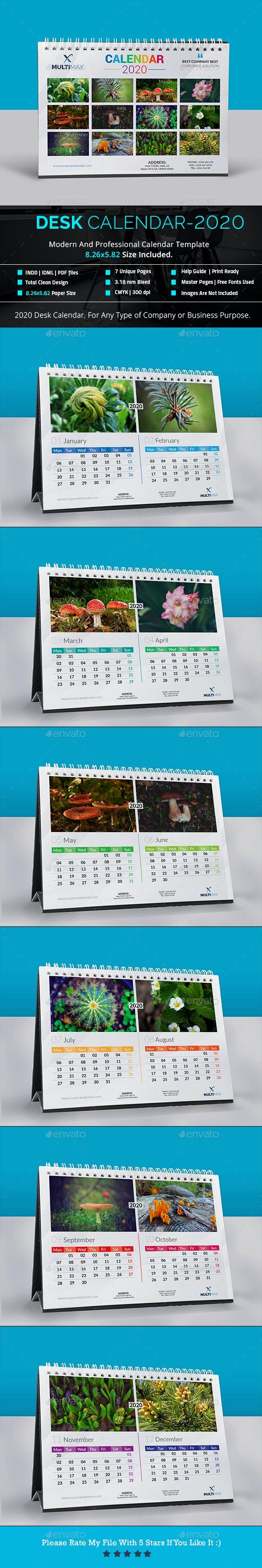 Desk Calendar-2020 - Calendars Stationery