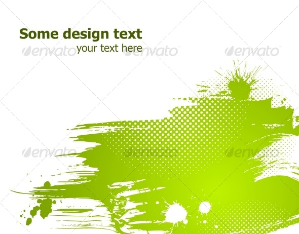 Green abstract vector illustration. - Backgrounds Decorative