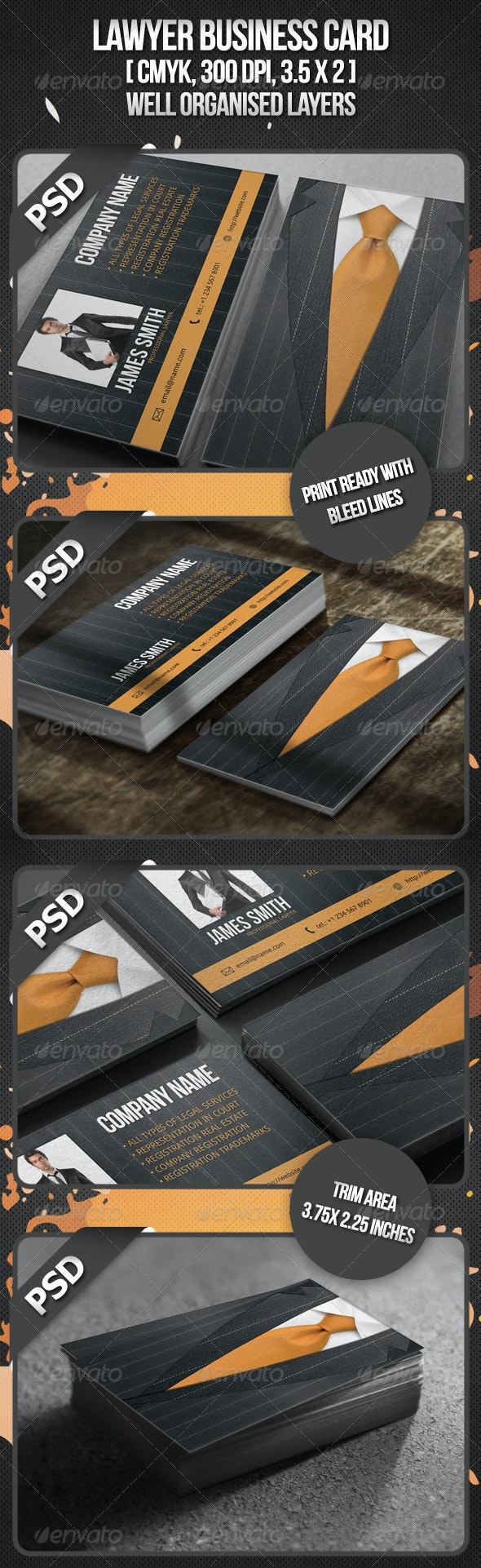 Lawyer Business Card - Industry Specific Business Cards