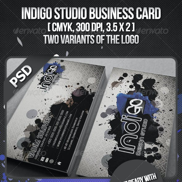 Indigo Studio Business card