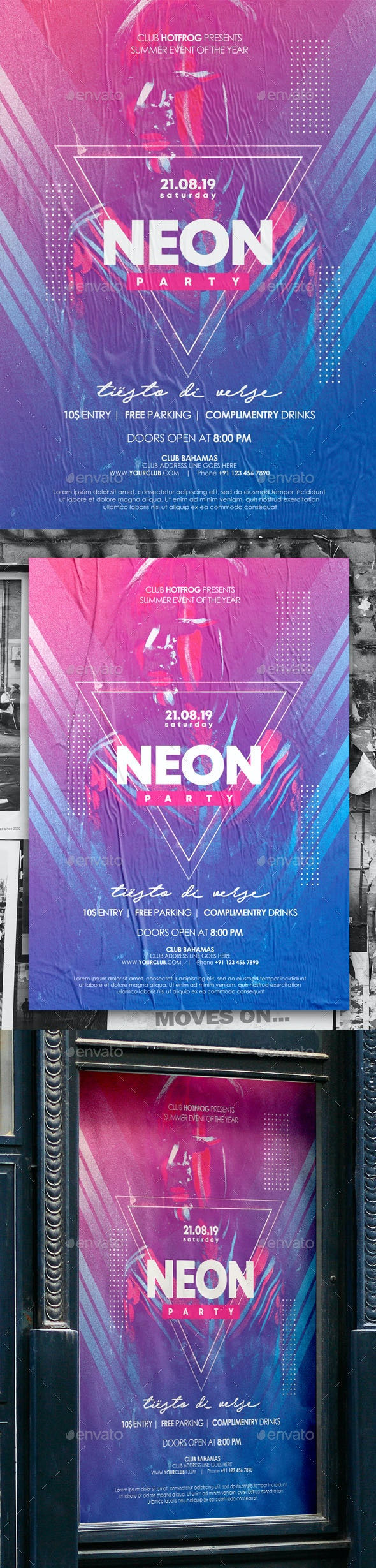 Neon Poster - Events Flyers