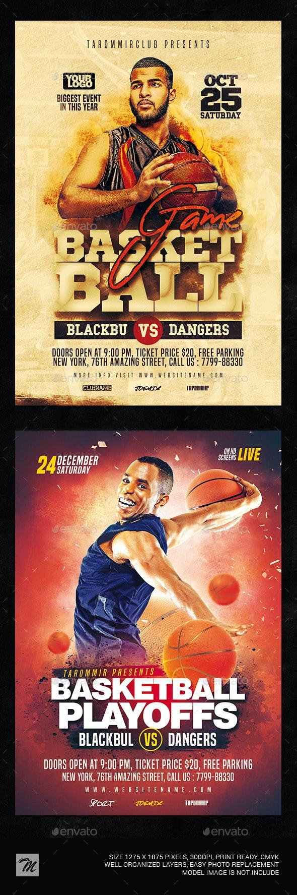 Basketball Flyer Bundle Vol 2 - Sports Events