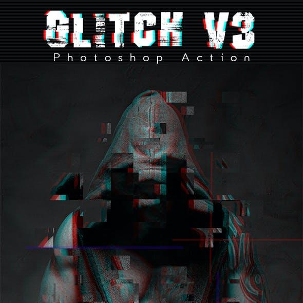 Glitch V3 Photoshop Action