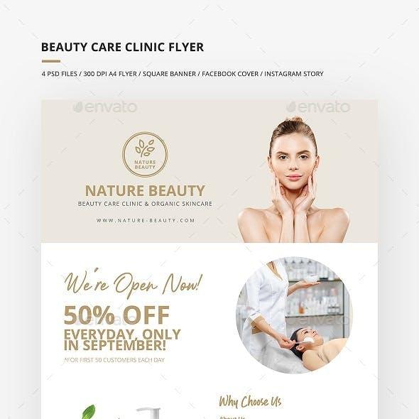Beauty Care Clinic Flyer & Social Media Banner Set