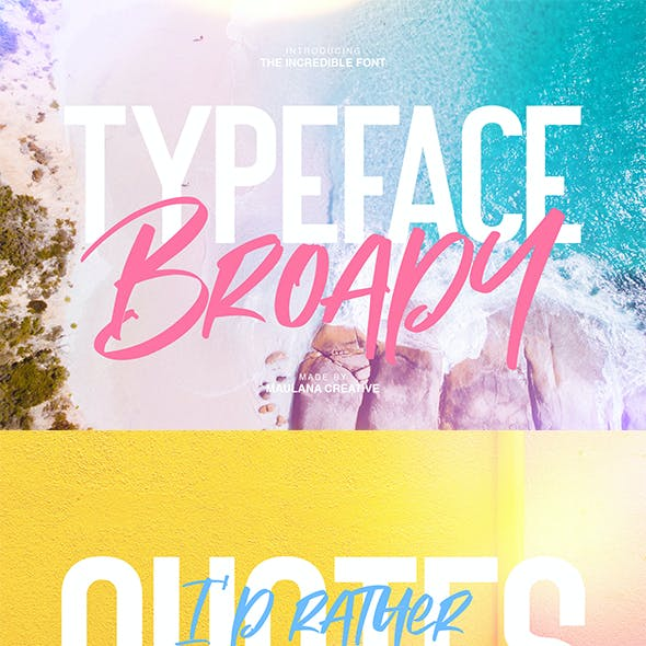 Broady Brush Font