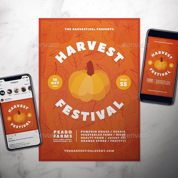 Harvest Festival Flyer Set