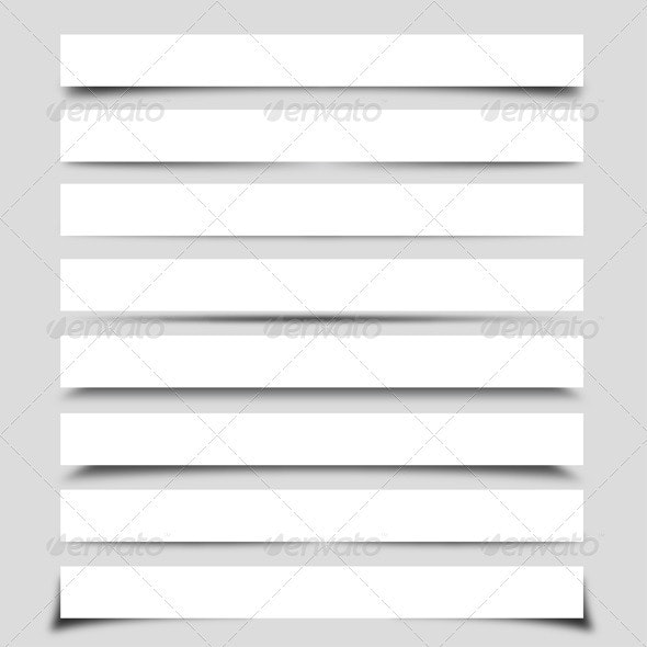 Banner Shadow Collection  - Miscellaneous Vectors