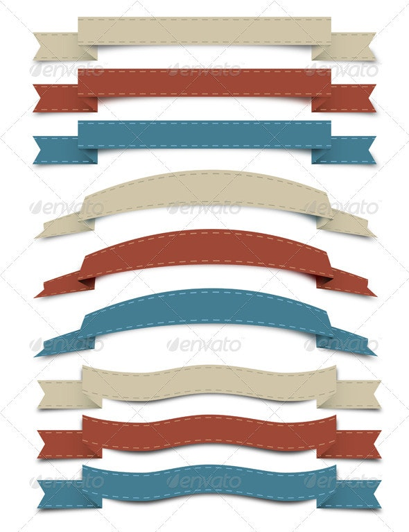 Banners and Ribbons - Backgrounds Decorative