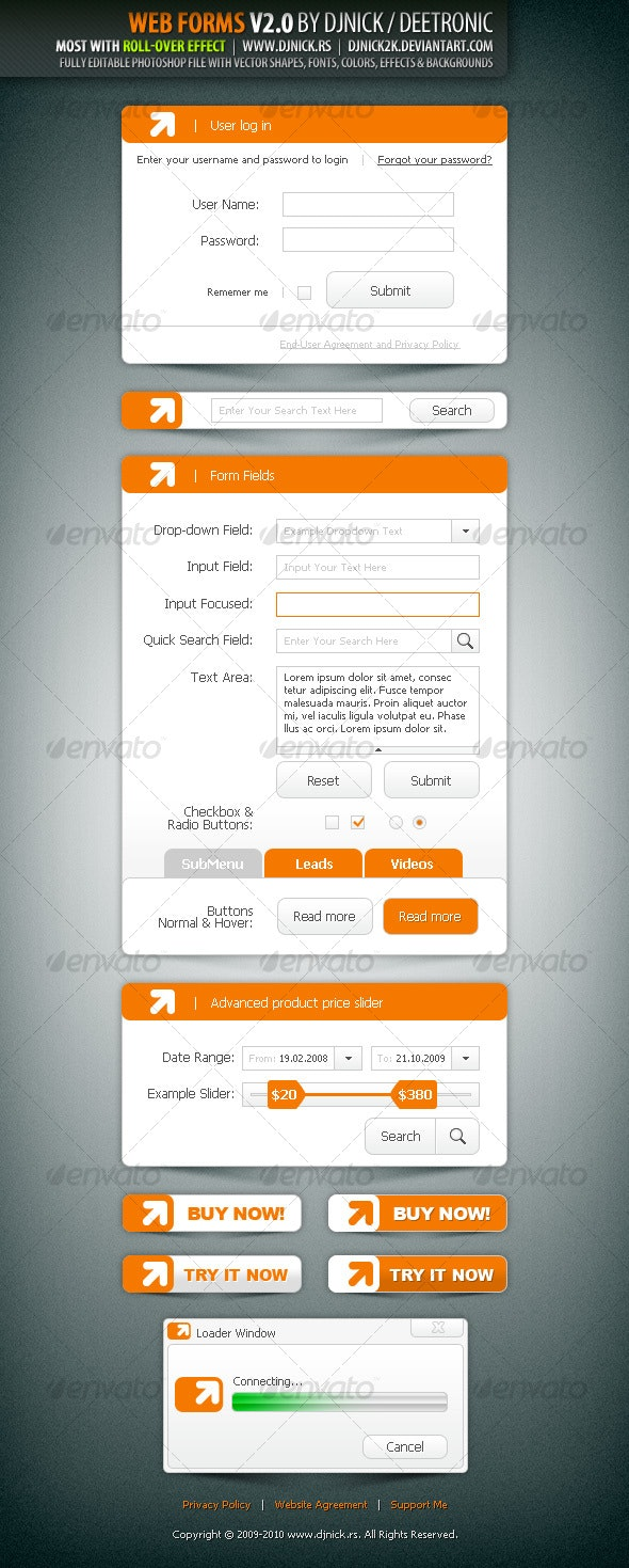 Web Forms V2.0 by djnick deetronic - Forms Web Elements